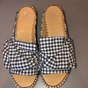 Gingham print shoes Franco sarto